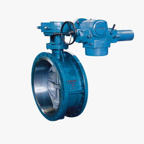 D943 type three eccentric multi-level electric flange type butterfly valve