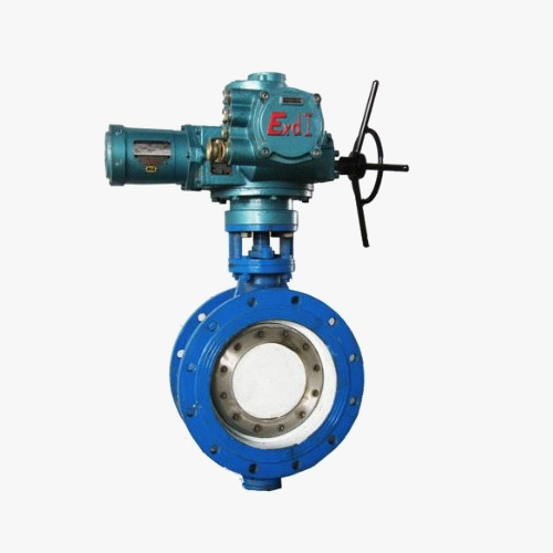 D942 type double eccentric elastic electric drive flange type butterfly valve