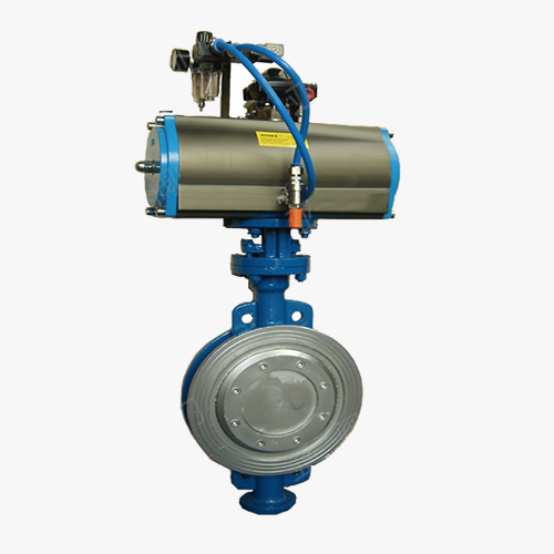 D673 type three eccentric multi-level pneumatic drive to clamp type butterfly valve
