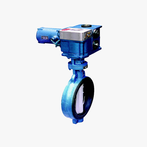 D972 type double eccentric elastic electric drive to clamp type butterfly valve