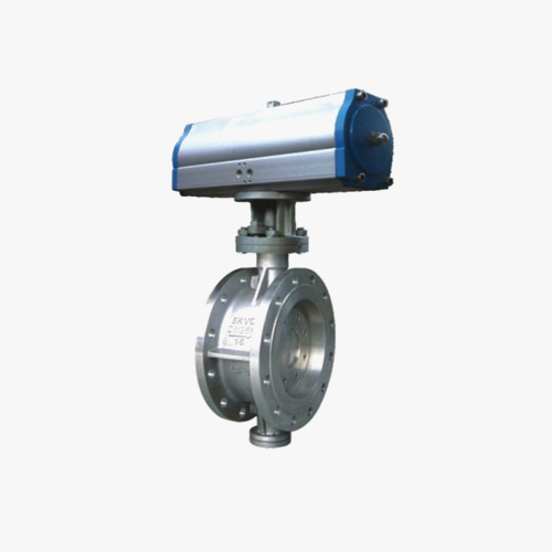 D642 type double eccentric elastic pneumatic drive flange type butterfly valve