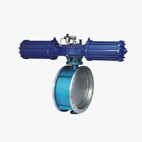 D643 type three eccentric multi-level pneumatic drive flange type butterfly valve