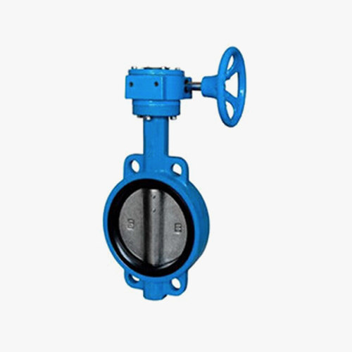 D372 type double eccentric elastic worm gear transmission pair clamp type butterfly valve