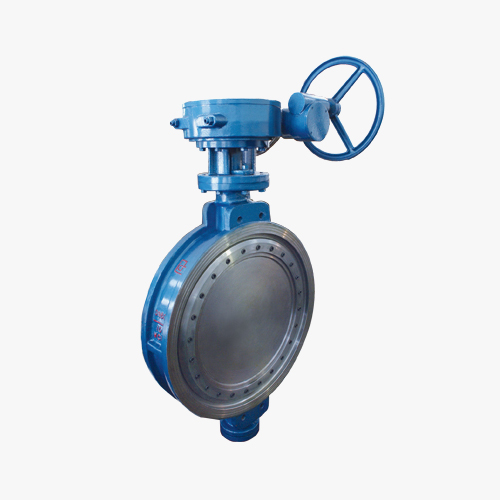 D373 type three eccentric multi-level worm gear transmission on the clip type butterfly valve