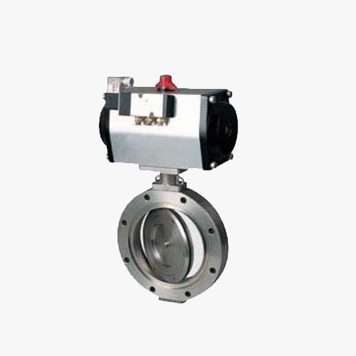 D672 type double eccentric elastic pneumatic clamp type butterfly valve