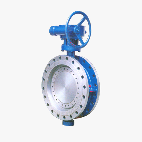 D342 type double eccentric elastic worm wheel transmission flange type butterfly valve